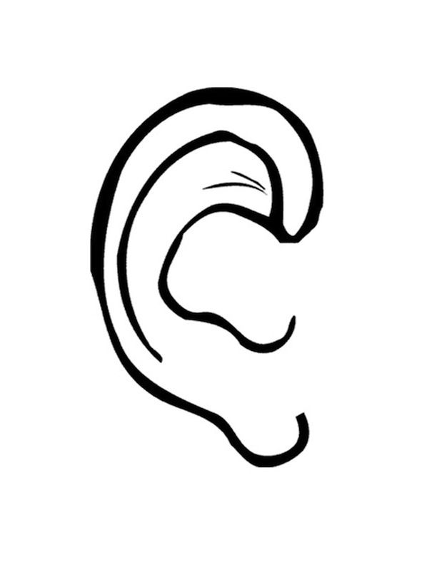 Body parts ear colouring pages coloring home for Ear coloring pages