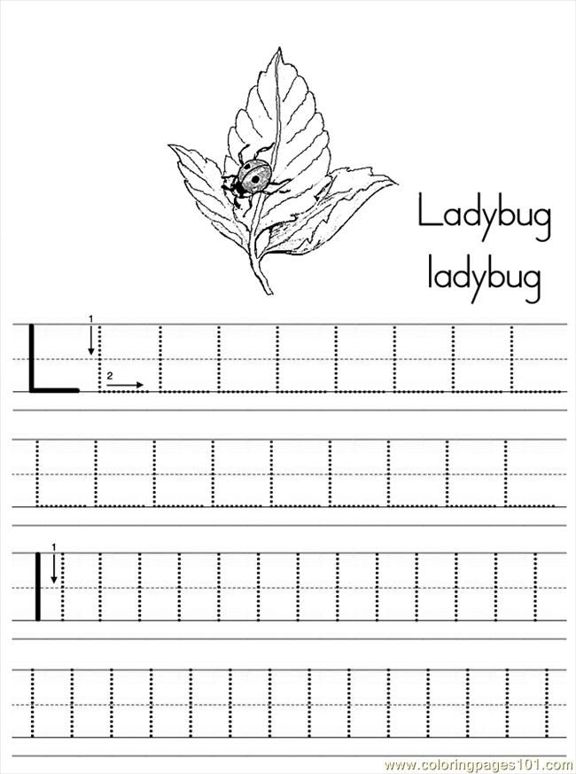 Abc Coloring Pages L - Coloring Pages For All Ages
