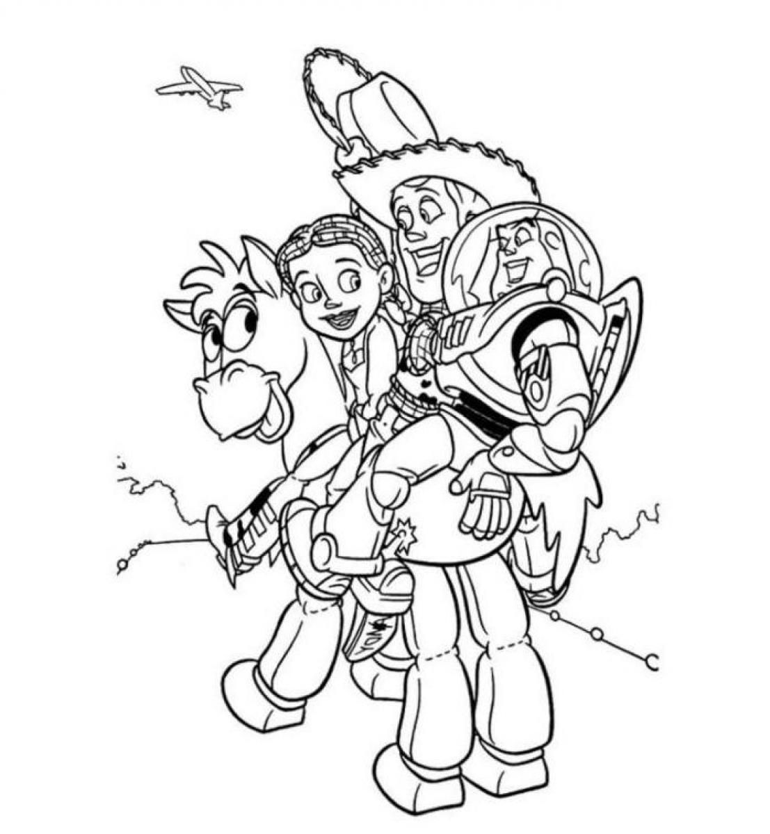 woody jessie coloring pages - photo#23