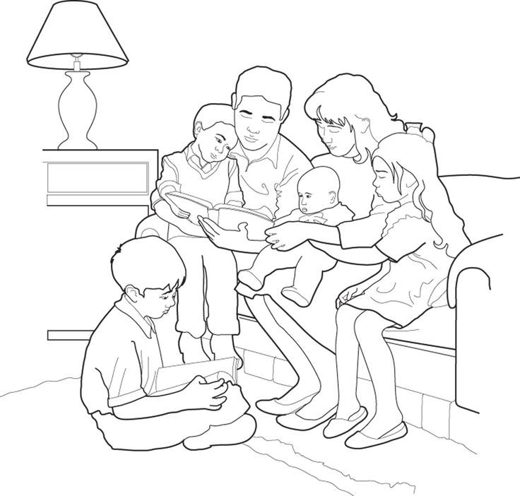 children coloring pages of families - photo#6