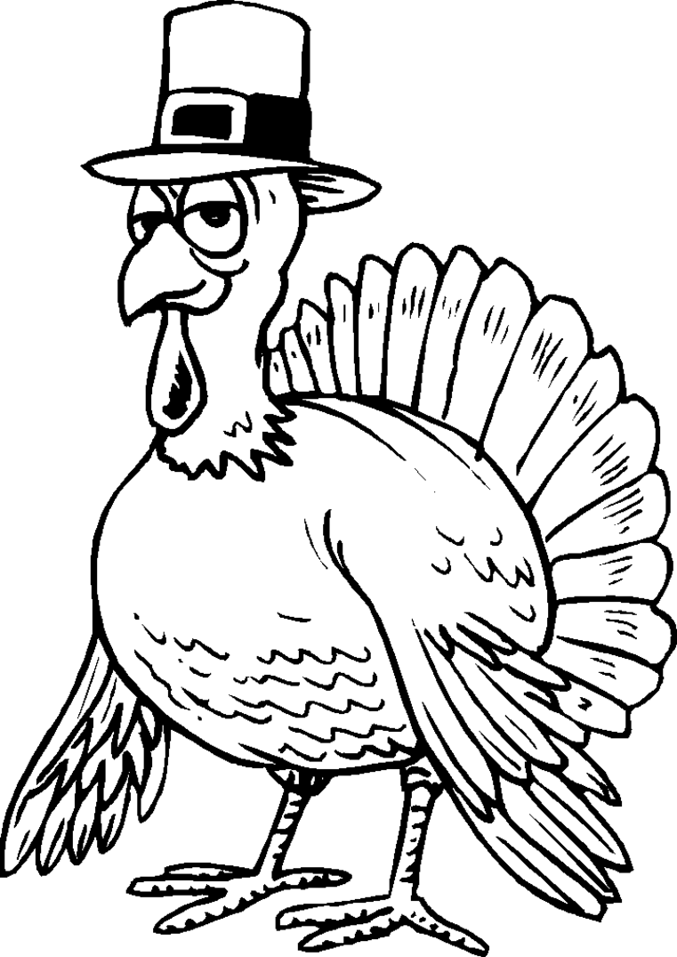 funny thanksgiving printable coloring pages - photo#23