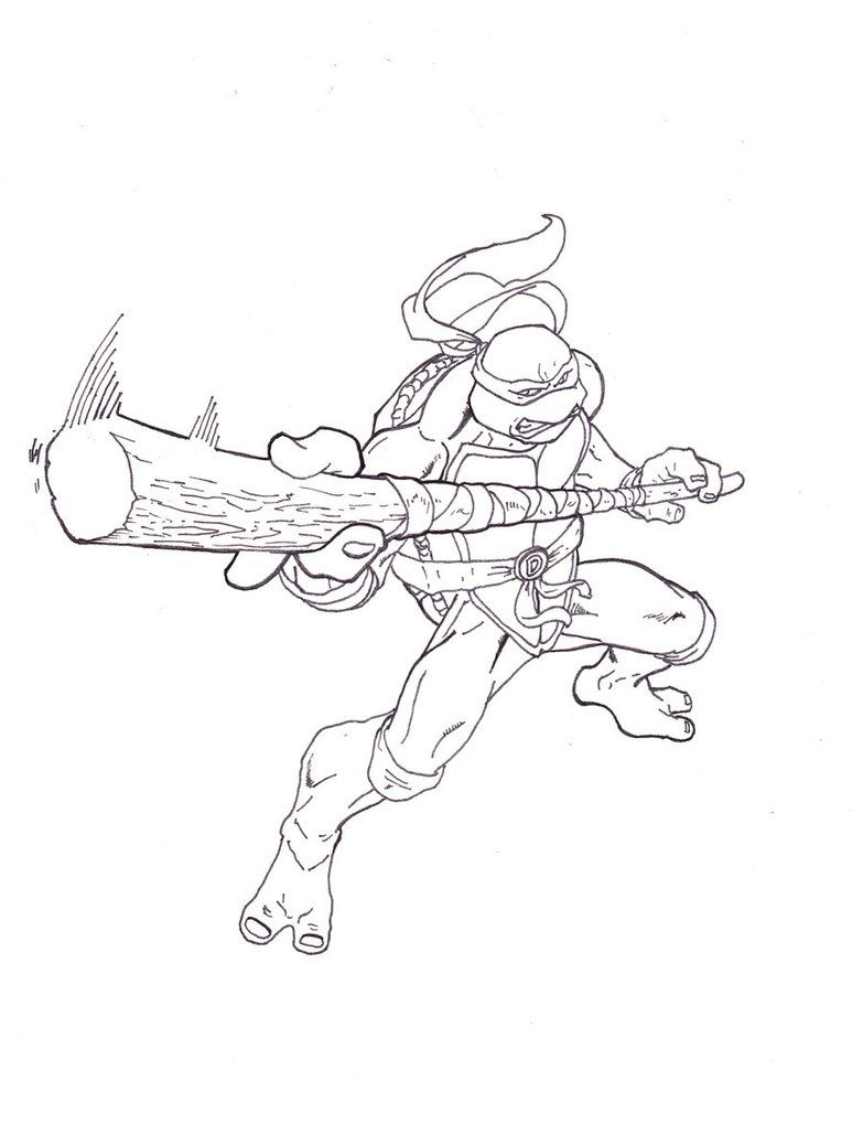 Donatello Coloring Pages - Coloring Home
