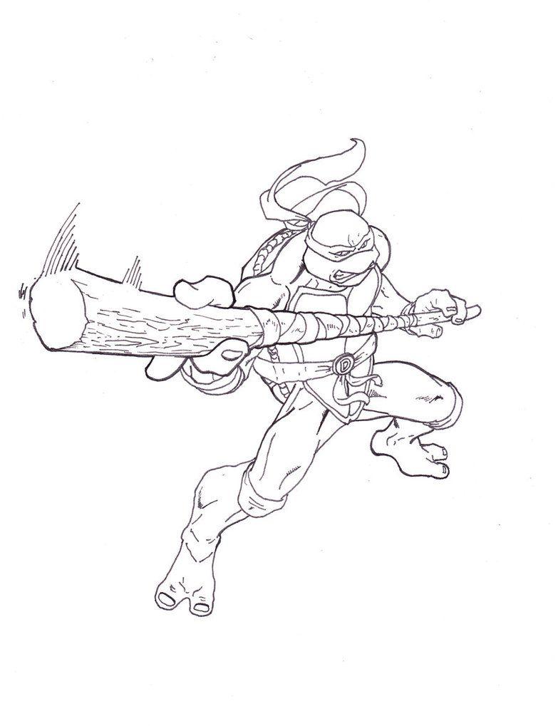 Coloring pages ninja turtles - Teenage Mutant Ninja Turtles Coloring Pages Donatello Coloring Pages
