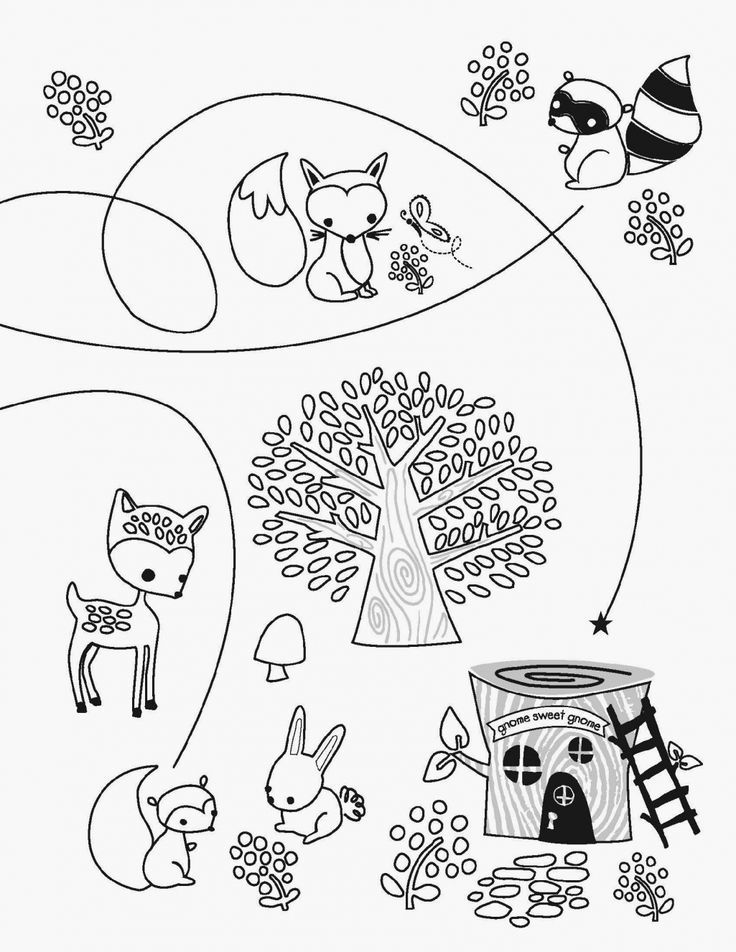 Free Woodland Creature Coloring Pages - Coloring Home