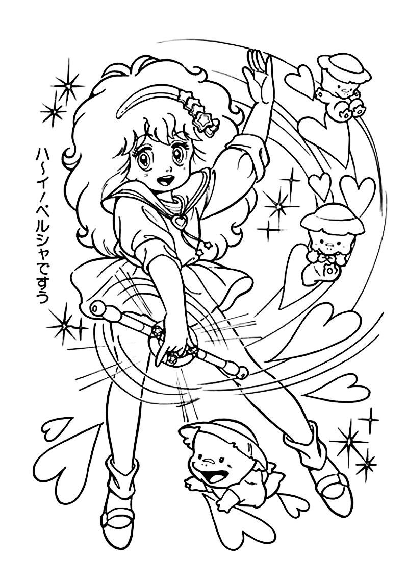anime fairy coloring pages - photo#18