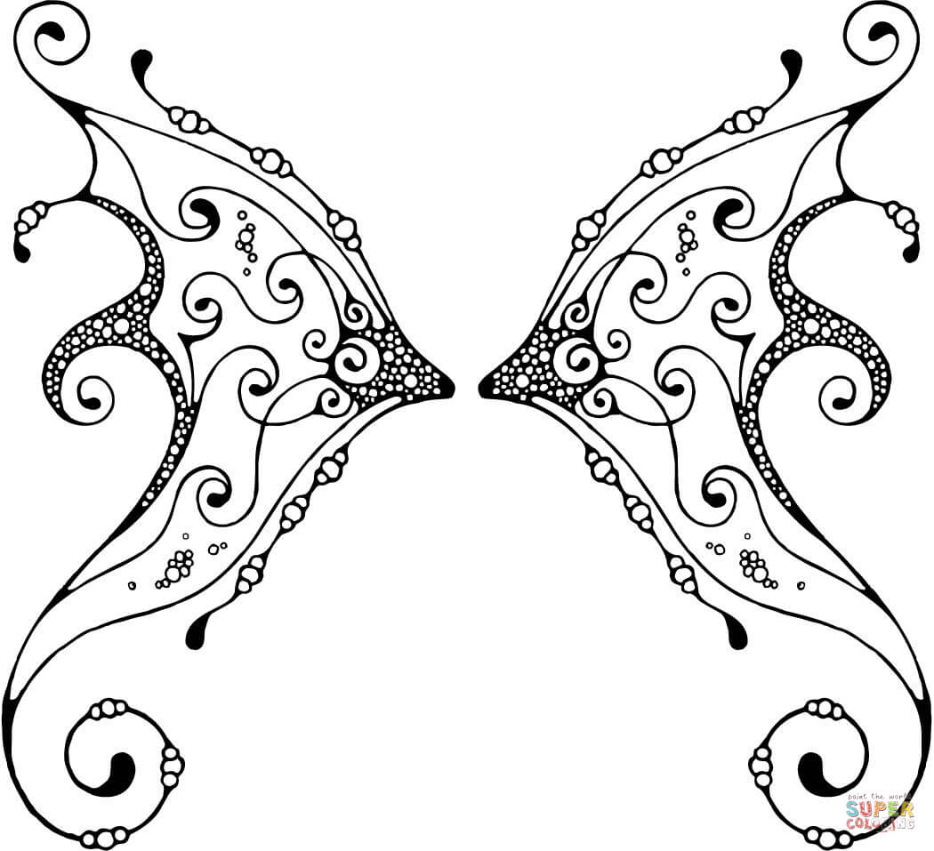 Angel Wings Coloring Pages Teens - Coloring Pages For All Ages ...