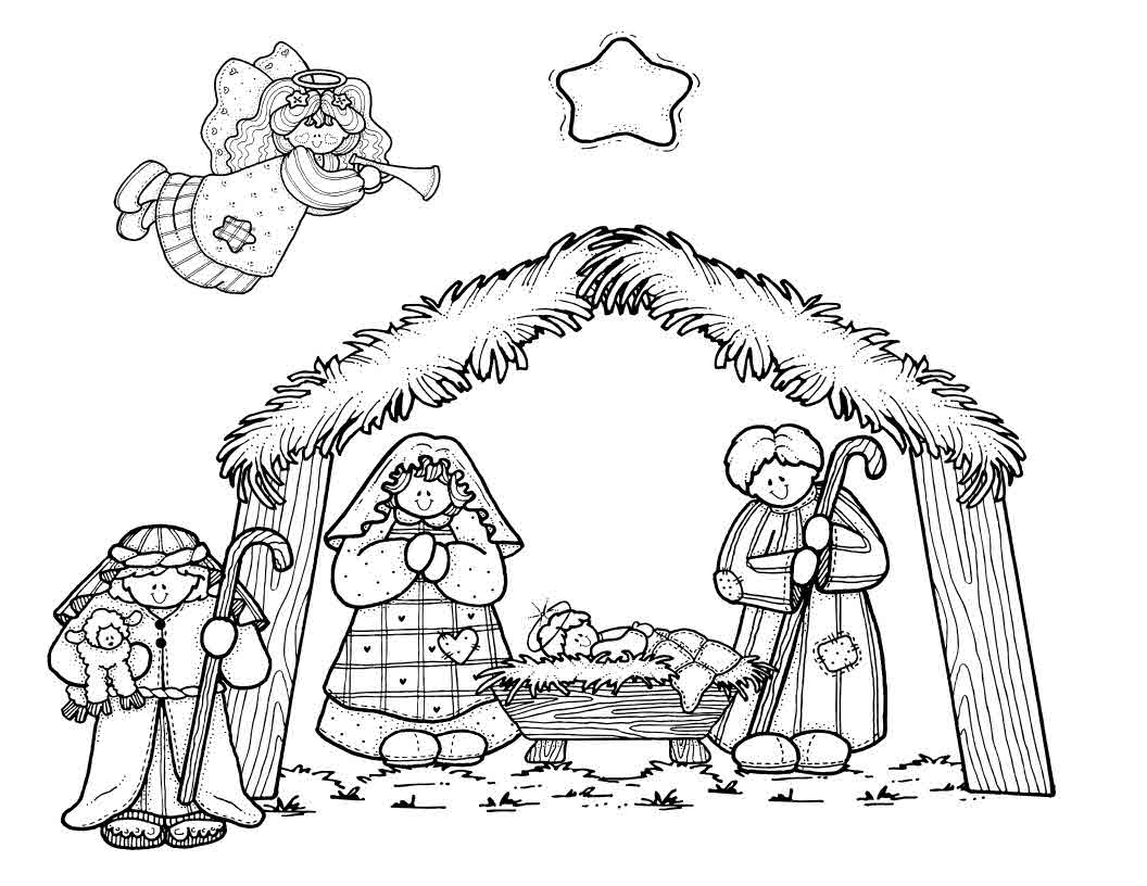 Childrens coloring pages of nativity - Free Printable Nativity Coloring Pages For Kids Coloring Pages