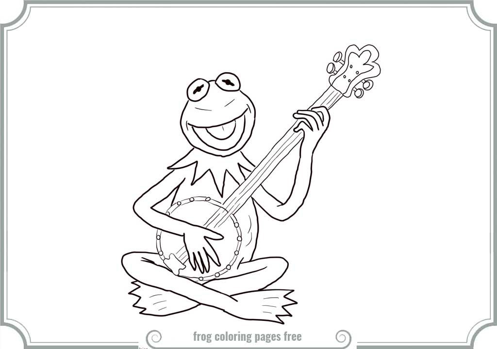 Kermit The Frog Coloring Page - Coloring Home