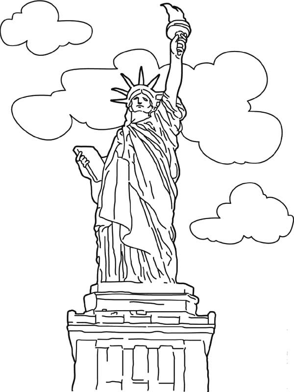 Worldwonders Liberty Statue Coloring Pages : Batch ...