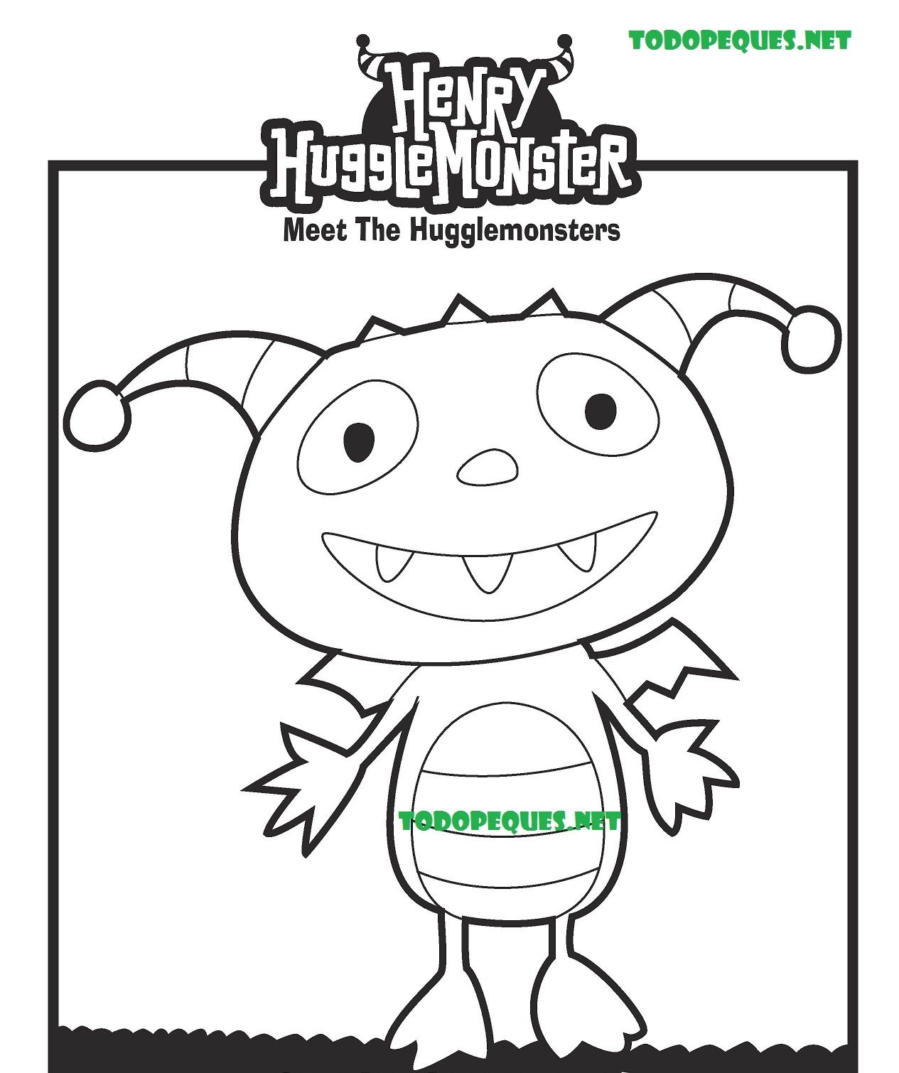 Henry Hugglemonster Coloring Pages Coloring Home Horrid Henry Coloring Pages