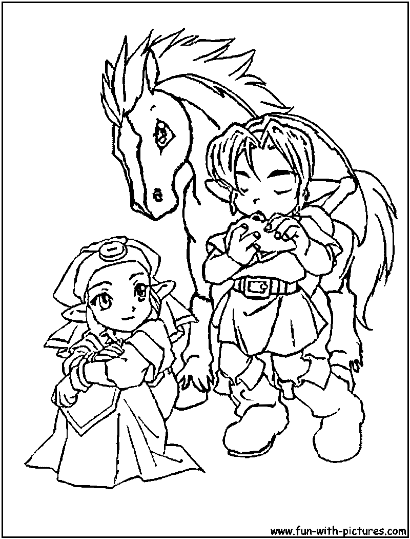 The Legend Of Zelda Coloring Pages - Coloring Style Pages