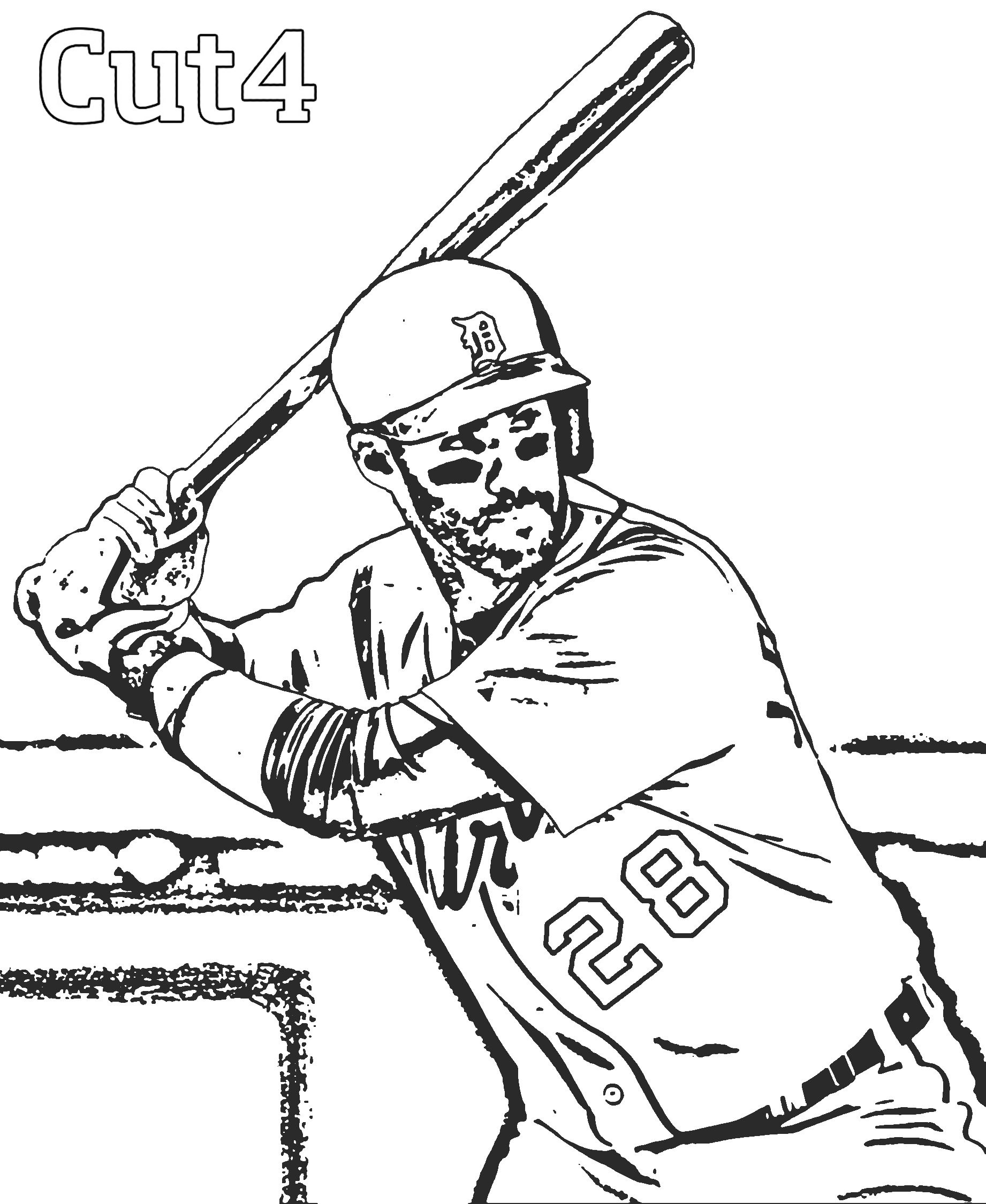 detroit tiger coloring pages - photo#29