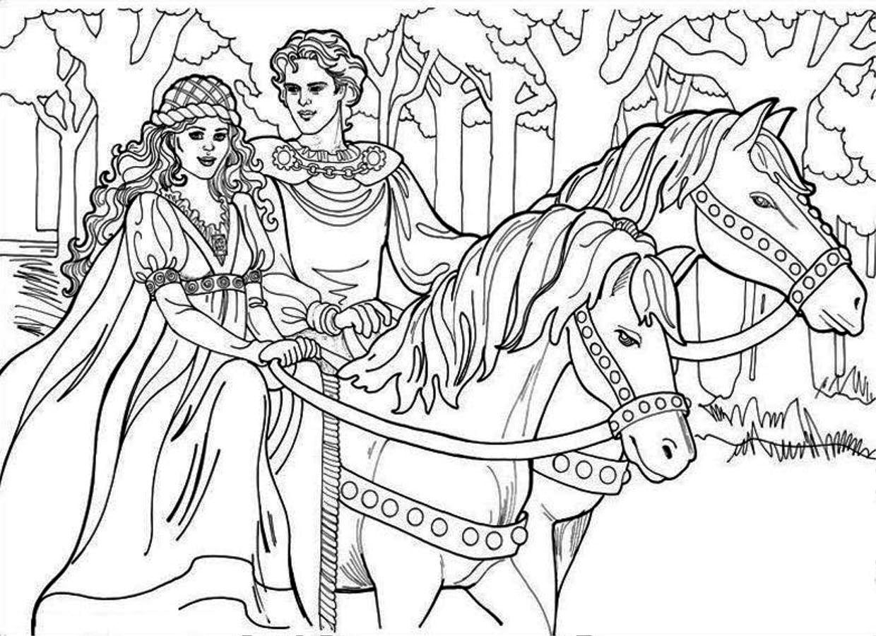Princess & Prince Coloring Pages - Coloring Home