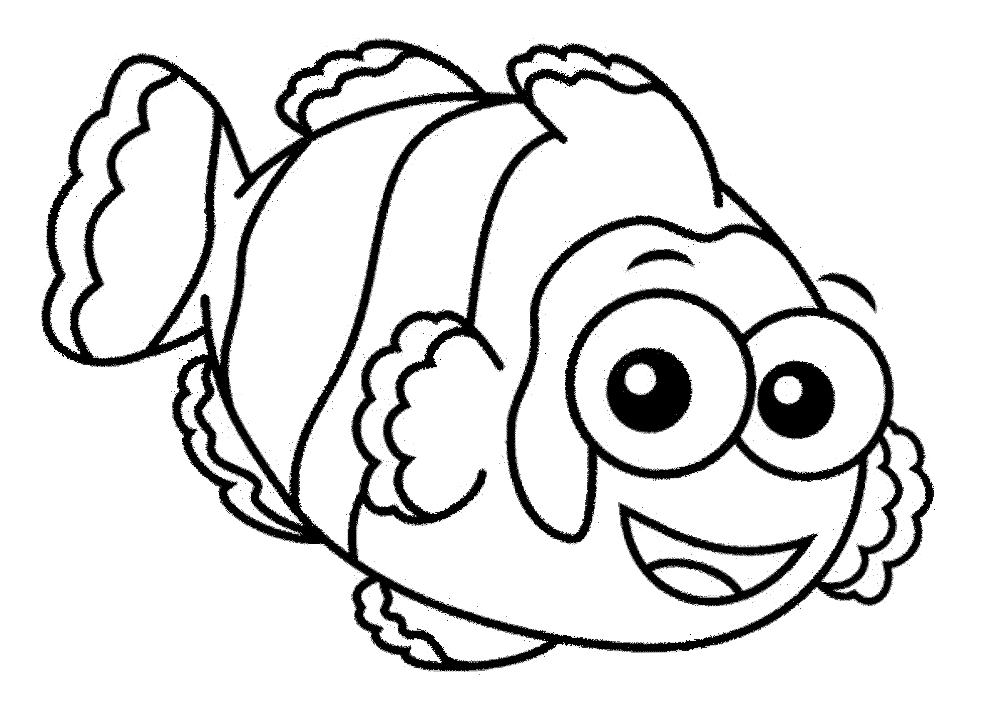 Red Fish Blue Fish Coloring Page