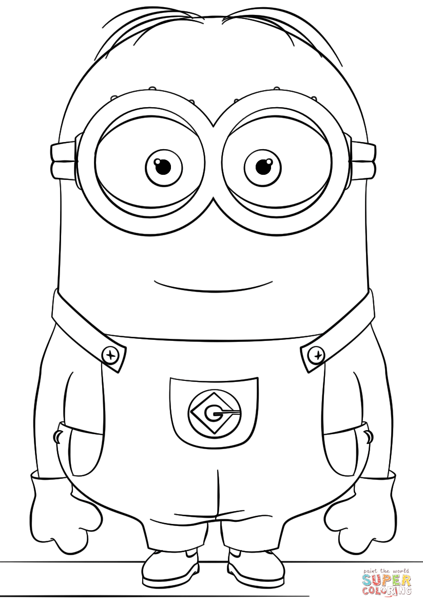 Minion Dave coloring page | Free Printable Coloring Pages