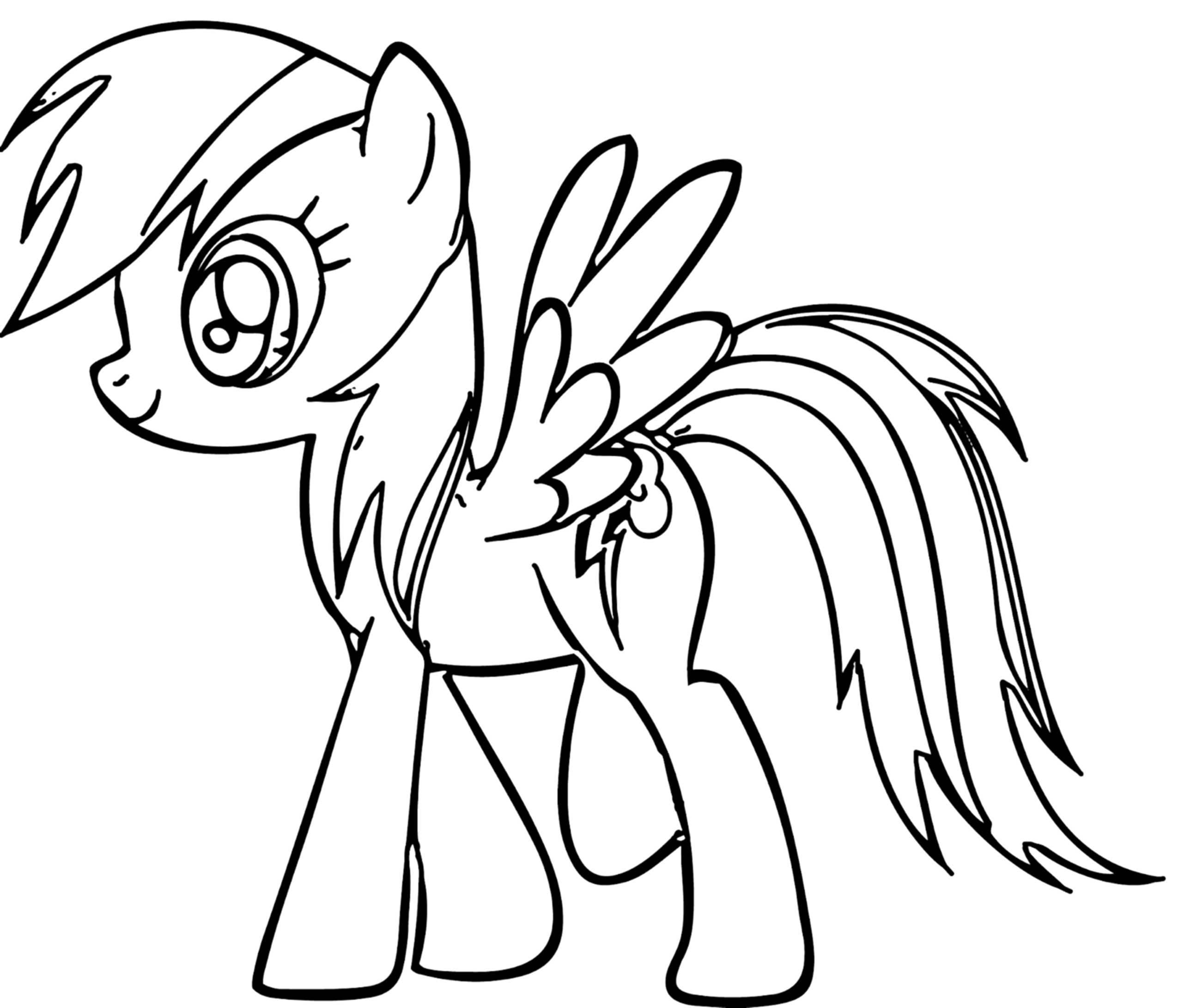 Mlp Coloring Pages Rainbow Dash