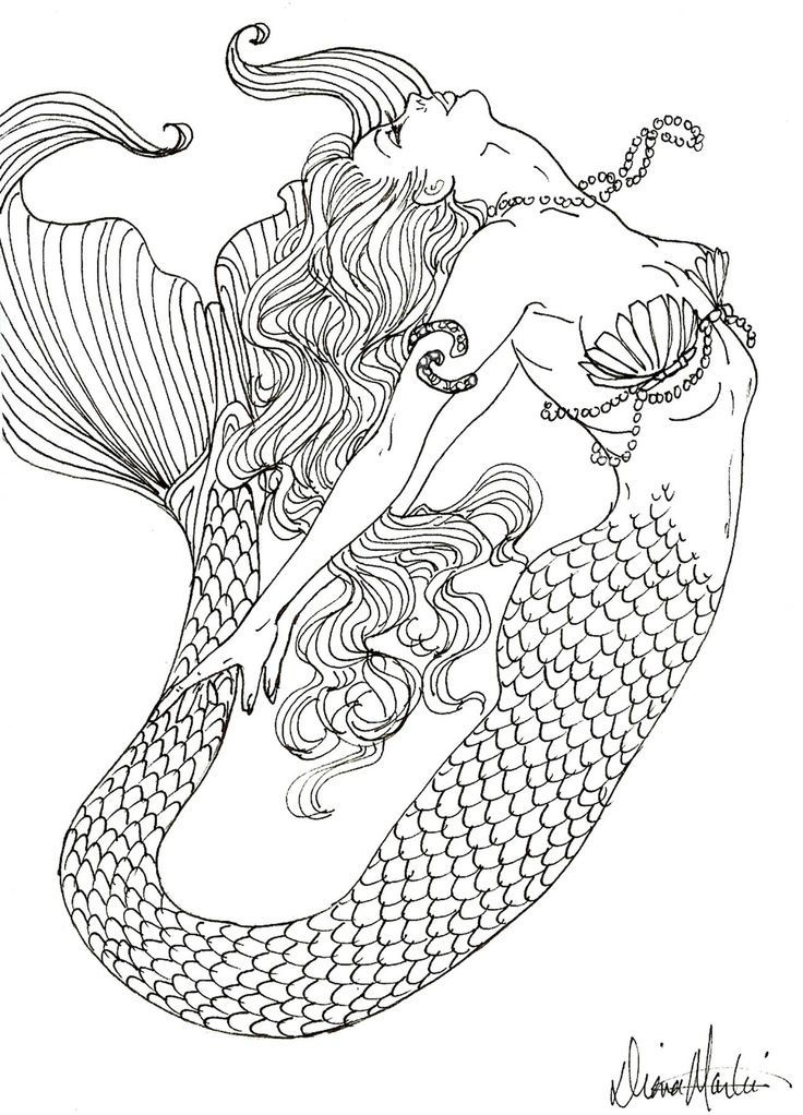 - Free Printable Coloring Pages For Adults Mermaids - Coloring Home