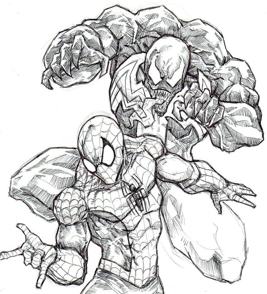 Best Photos Of Spider Man Vs Venom Coloring Pages Spider Man And