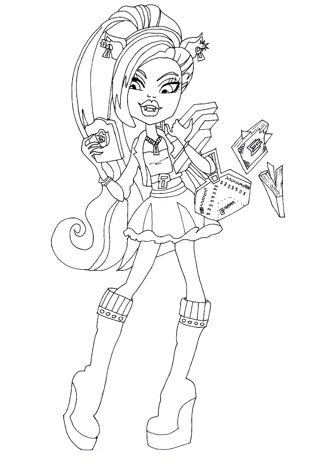 Monster High Coloring Pages Draculaura And Clawdeen