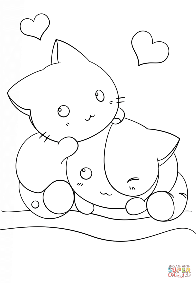 kitties coloring pages - kitten outline coloring page coloring home