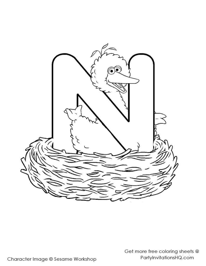 letter a coloring pages elmo - photo#24