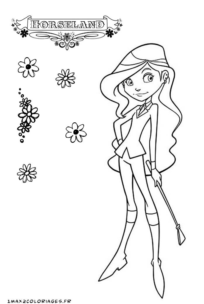 horseland alma coloring pages az coloring pages