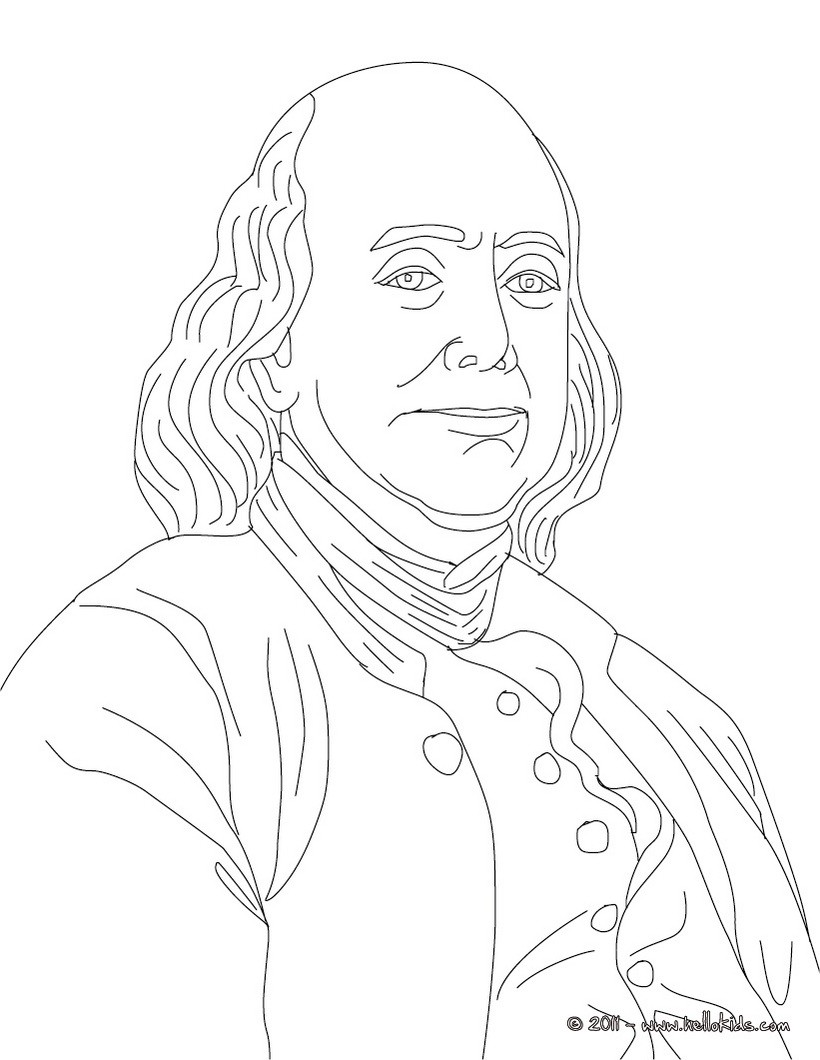 coloring pages ben franklin - photo#9