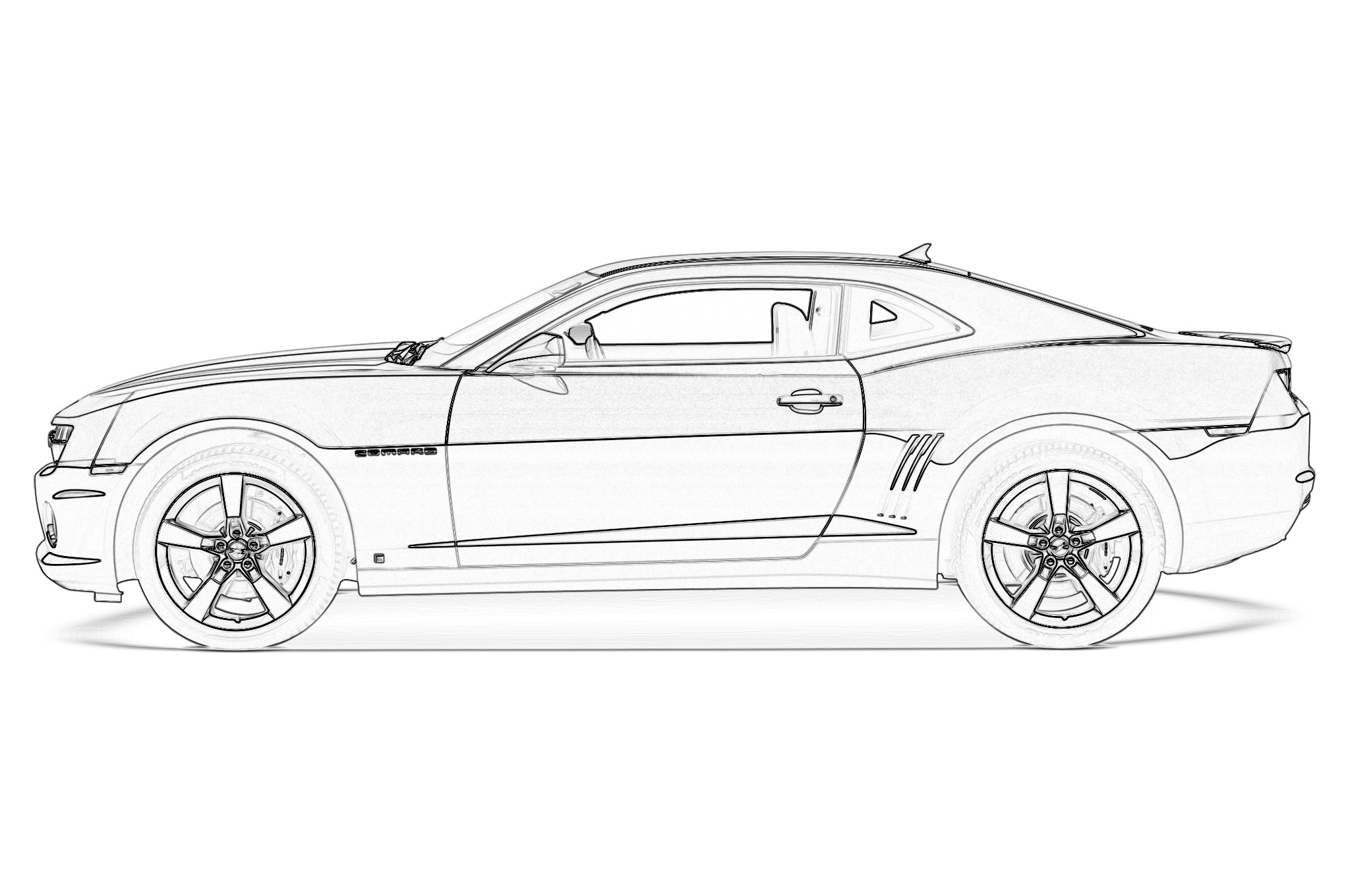 camaro coloring pages to print | 2010 Camaro Coloring Page - Coloring Home