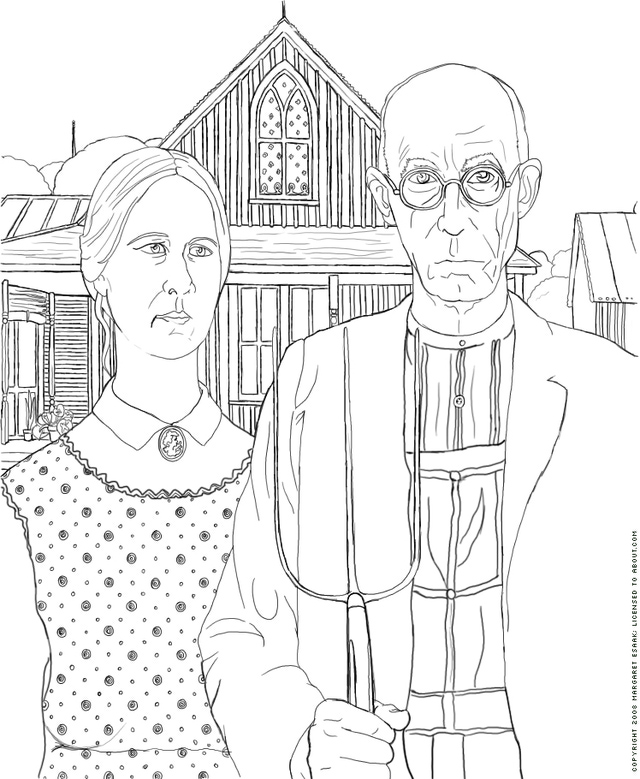 art history coloring book pages - photo#5
