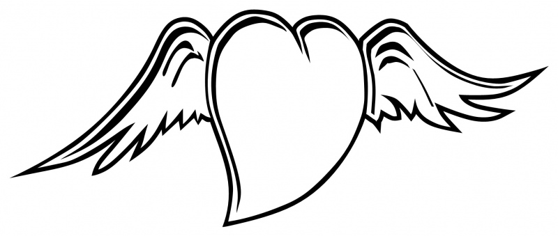 hearts with wings coloring pages coloring home