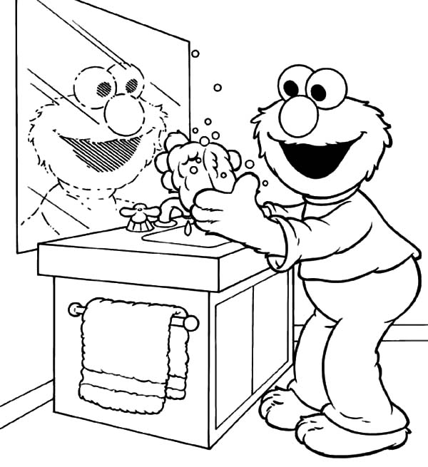 Hand Washing For Kids Coloring Page - Coloring Home