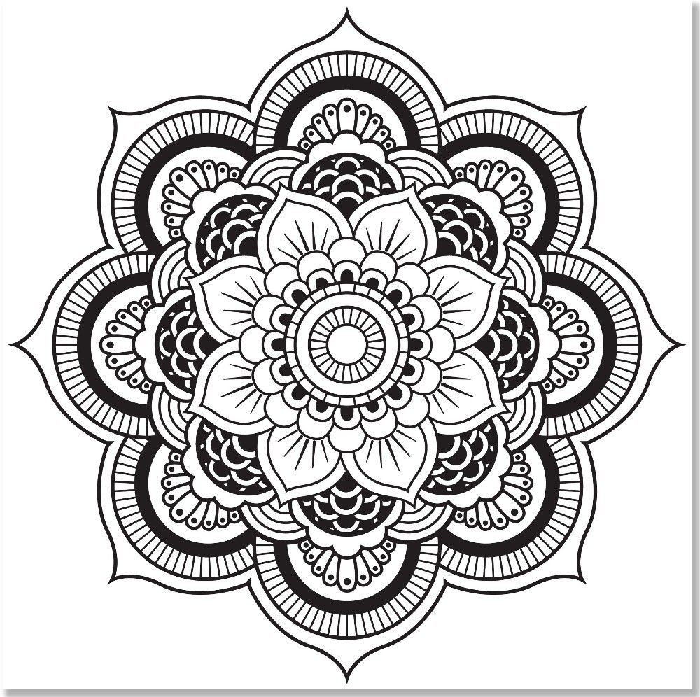 Kaleidoscope Coloring Pages For Adults Coloring Home