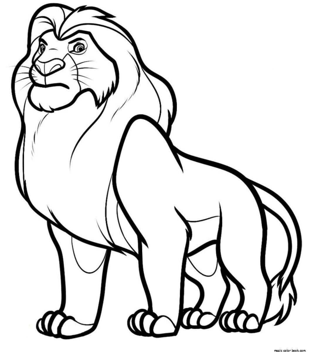 Mufasa Disney The Lion King Coloring Pages Online Free - Coloring Home
