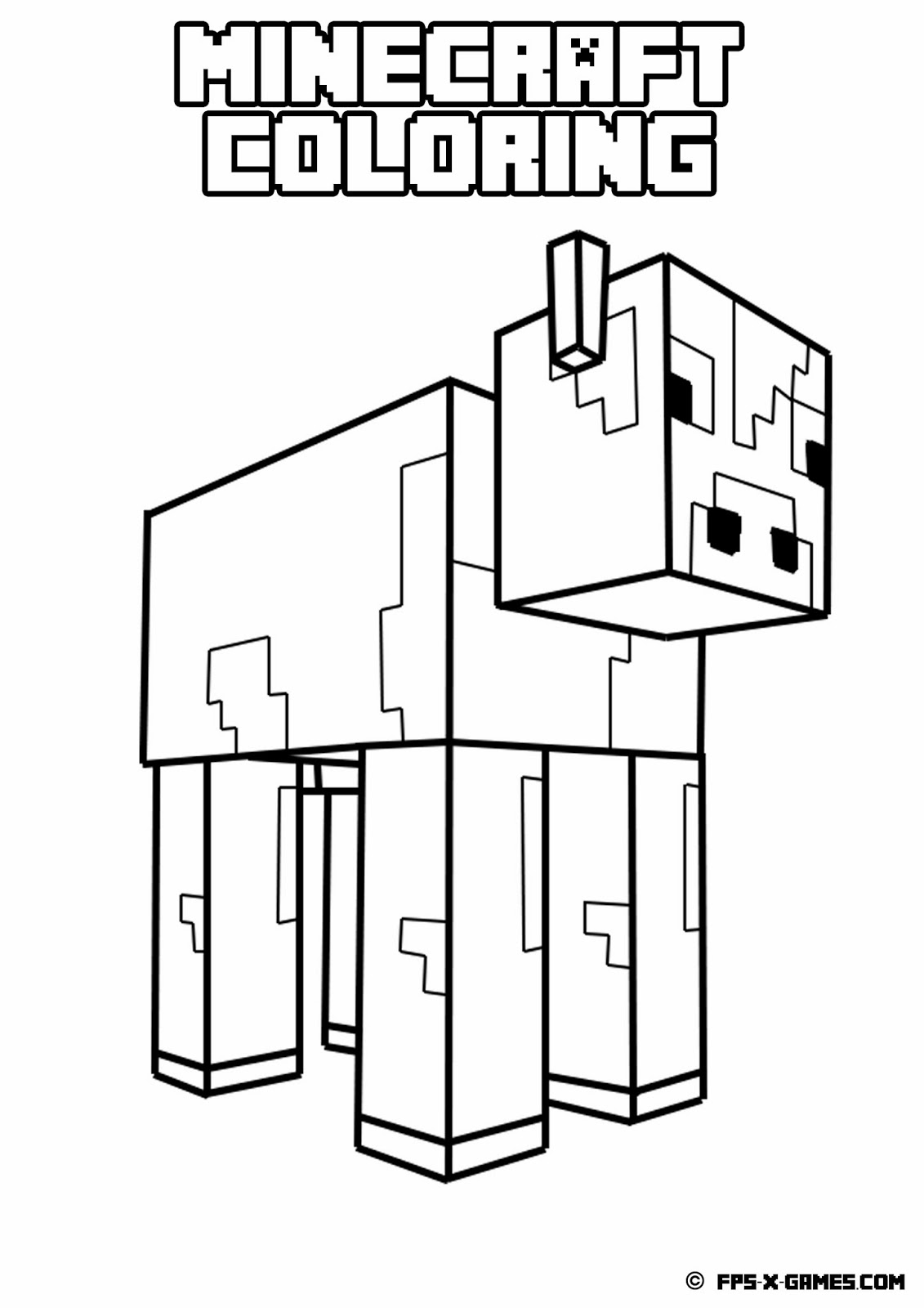 This is a graphic of Rare Minecraft Coloring Pages Printable