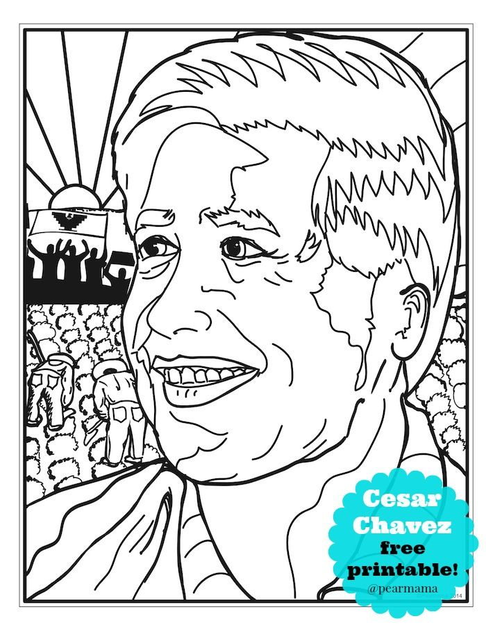 coloring pages about cesar chavez - photo#2
