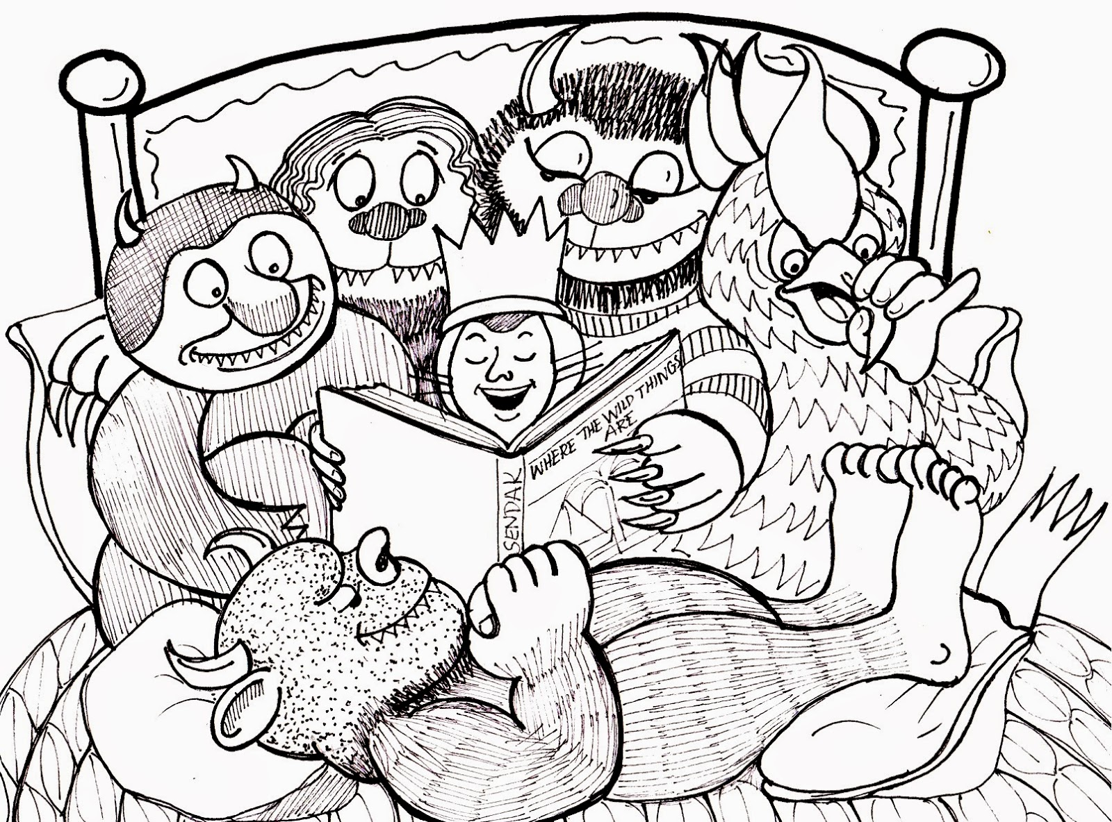 Where the wild things are coloring page coloring home for Where the wild things are coloring page