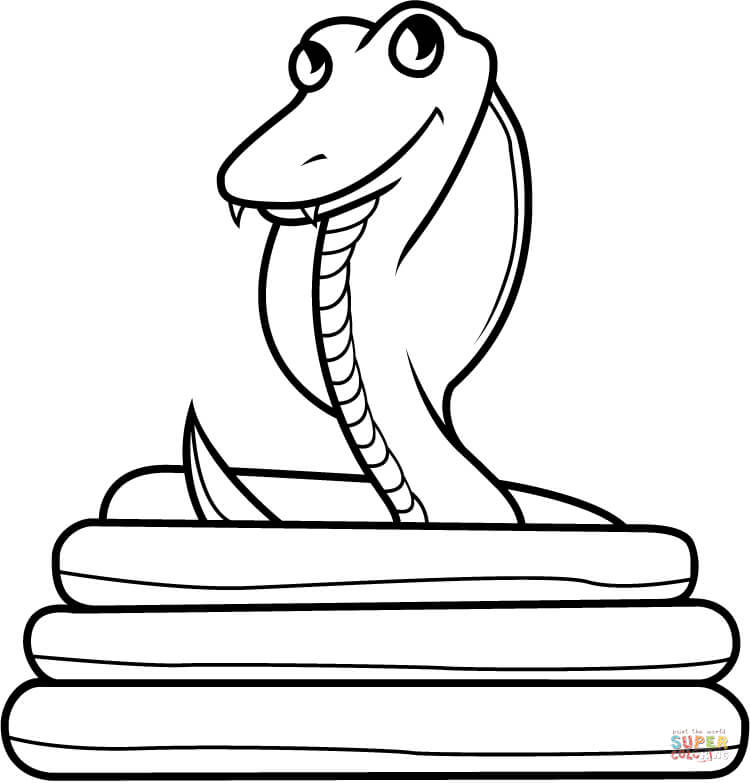 free printable cobra coloring pages - photo#16