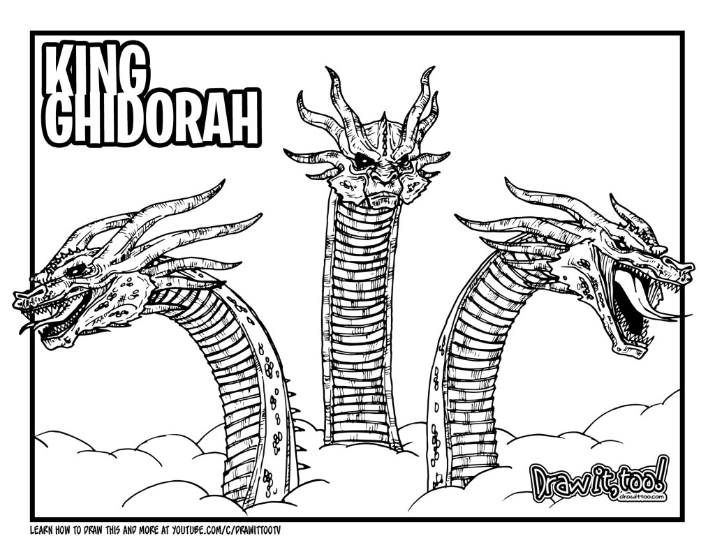 to Draw KING GHIDORAH (Godzilla: King ...drawittoo.com