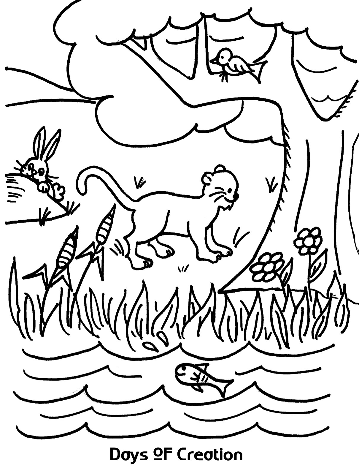 Days of Creation Coloring Page – coloring.rocks!
