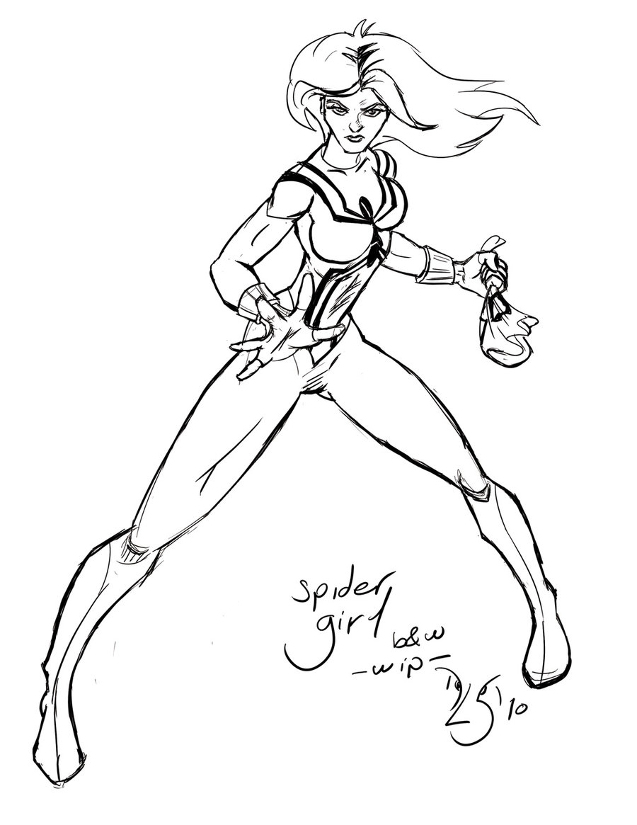 Spider Girl Coloring Pages at GetDrawings.com | Free for ...