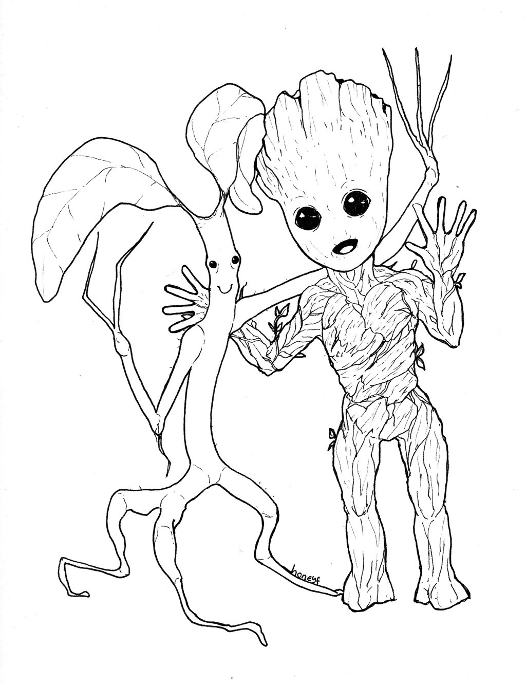 Groot Coloring Pages - Coloring Home