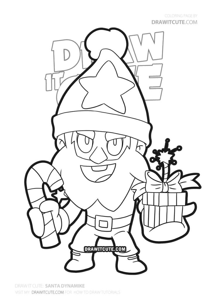 Santa Dynamike | Brawl Stars coloring page - Draw it cute ...