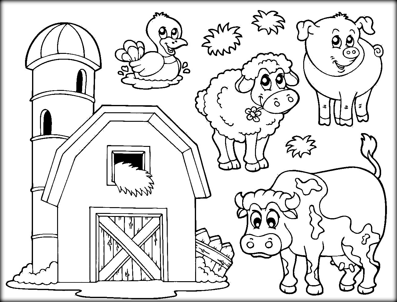 - Coloring Pages : Farm Animal Coloring Book Images Printable Pages