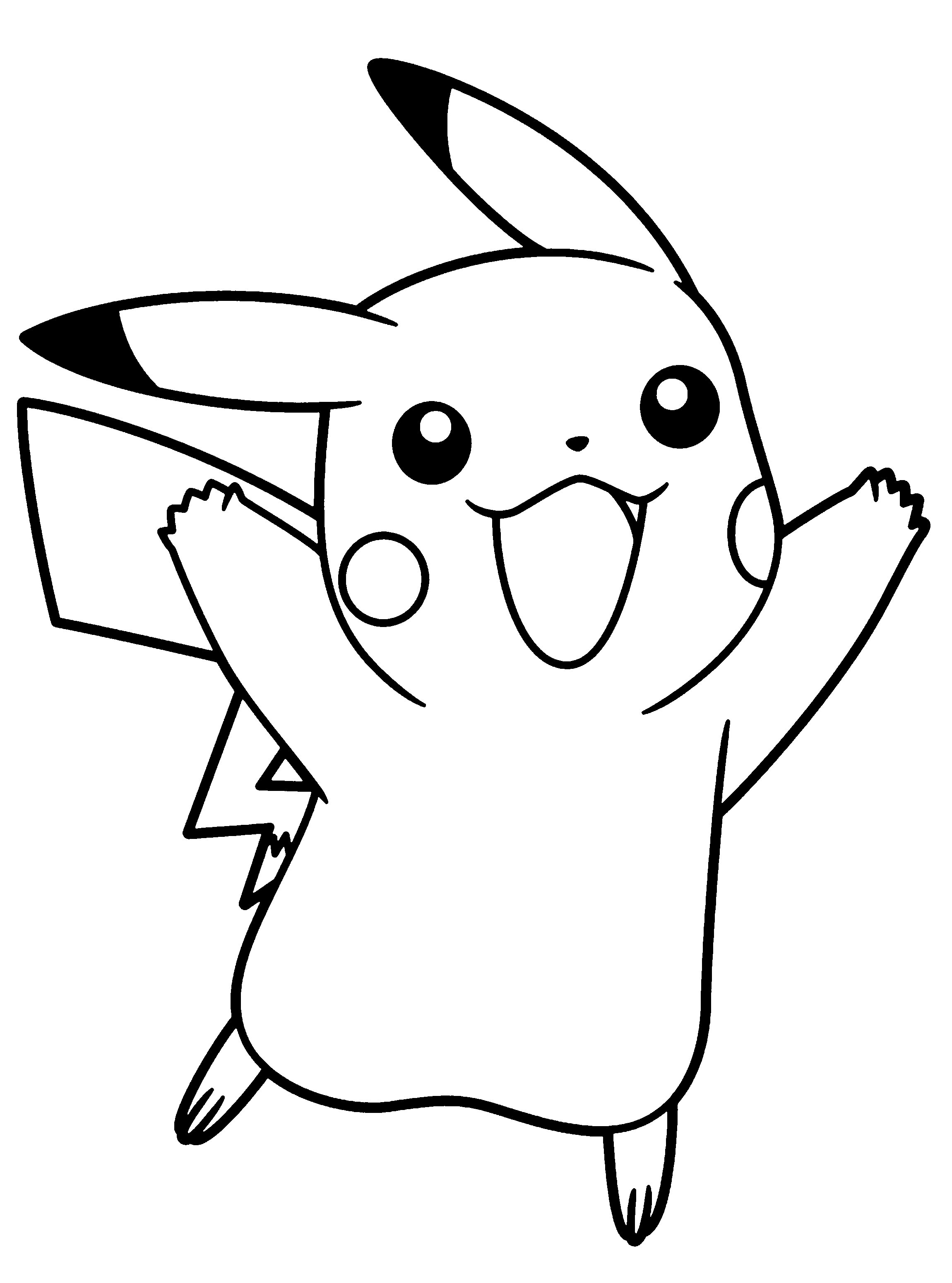 Pikachu coloring pages to download and print for free ...