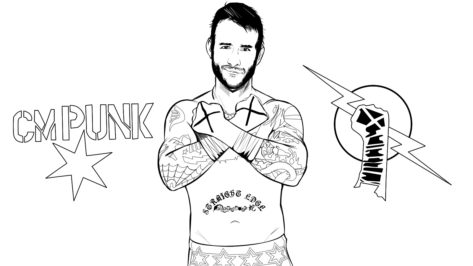 Wrestling Coloring Pages Online Books Wrestler Jeff Hardy Page