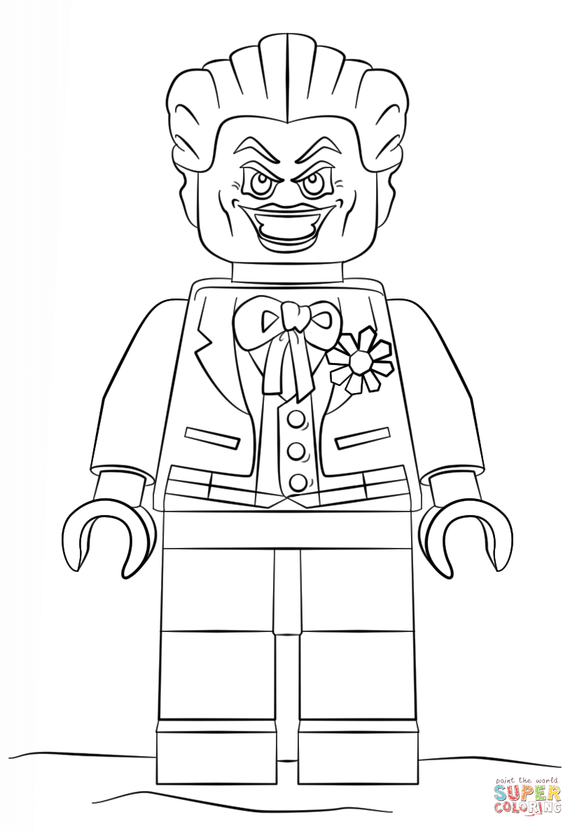 Lego Joker coloring page | Free Printable Coloring Pages
