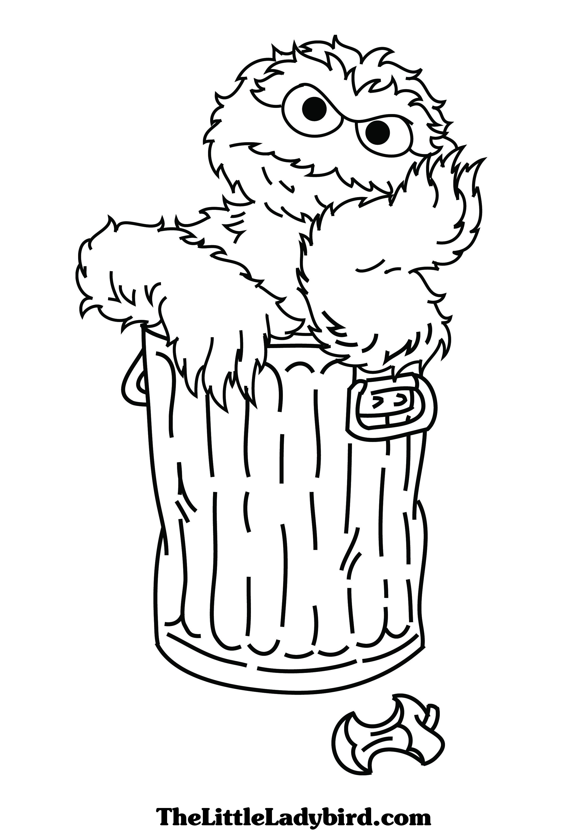 coloring pages oscar the grouch - photo#6