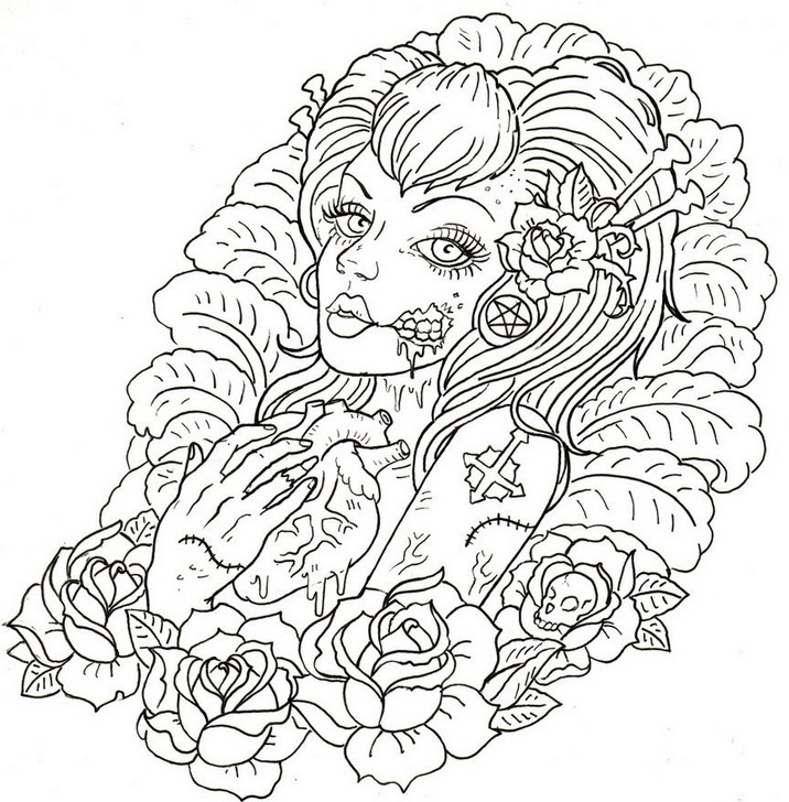 - Tattoos Coloring Pages - Coloring Home