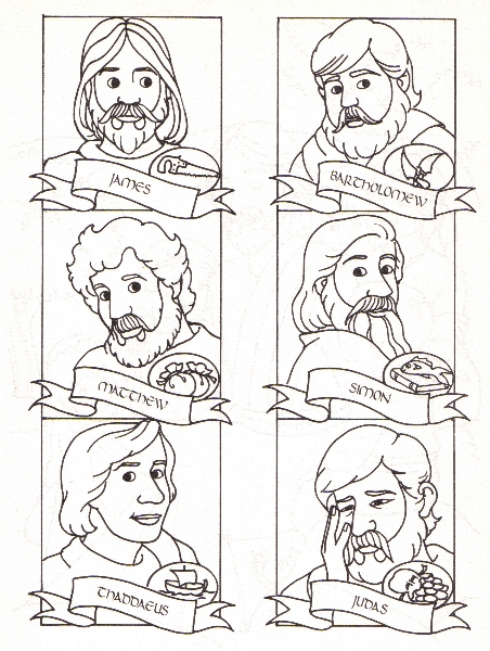 1000+ images about The Twelve Disciples Coloring Pages on ...
