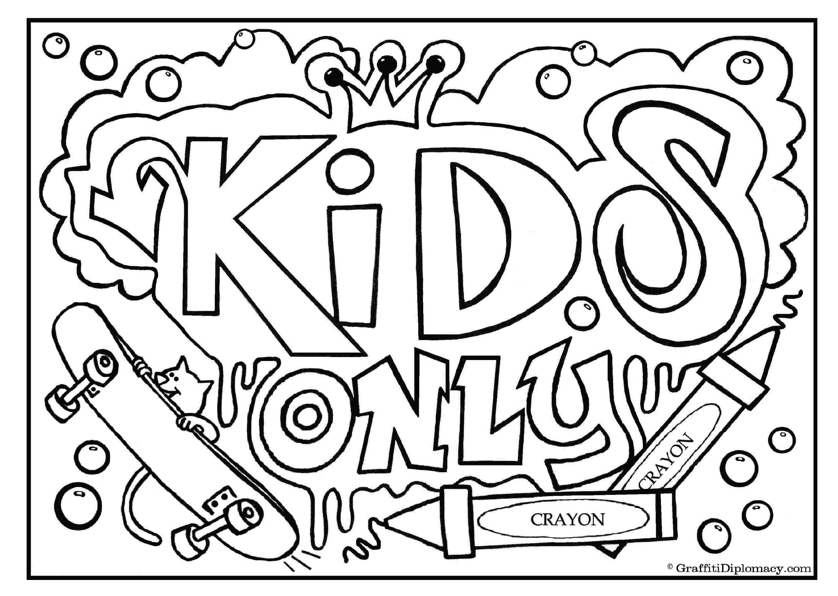 grafitti coloring pages  coloring home